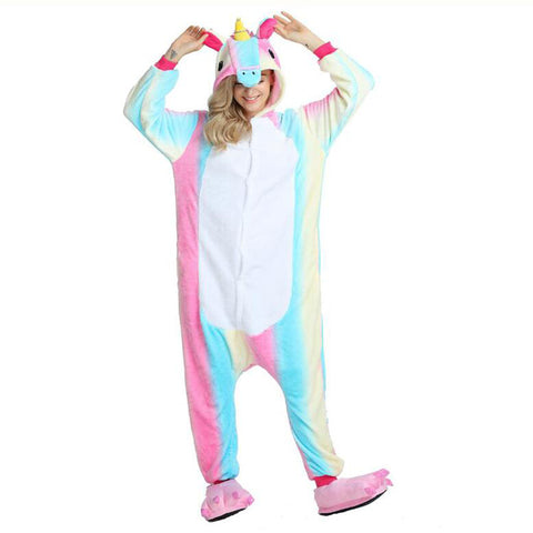 Lovely Flannel Unicorn Full Body Costume