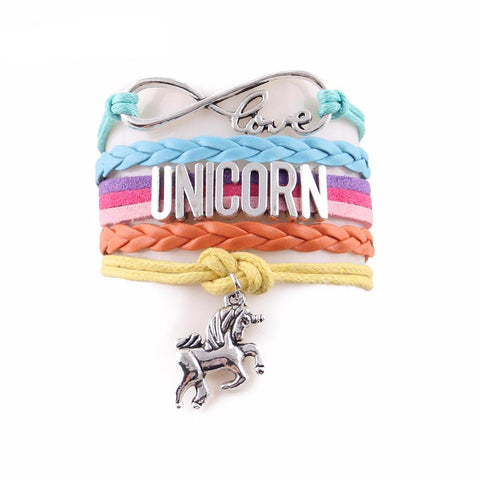 Rainbow Unicorn Leather Bracelet