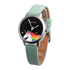 Leather Unicorn Watch