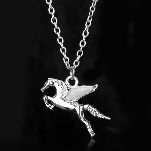GLOW in the DARK Pegasus Pendant Necklace