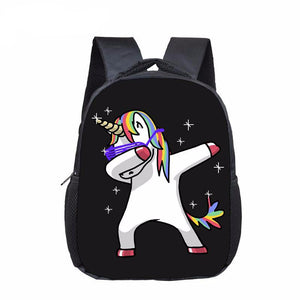 Kids Funny Dabbing Unicorn Backpack