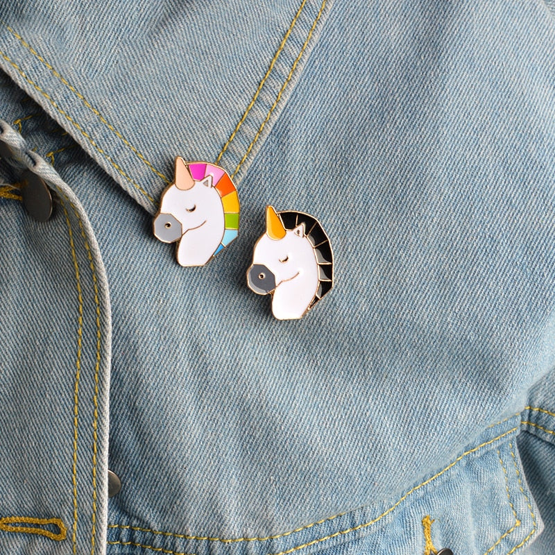 Unicorn Brooch set