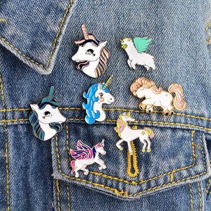 Unicorn Pegasus Horse Brooch Pin