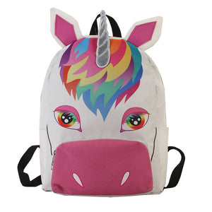 Looking at you Unicorn Canvas Backpack