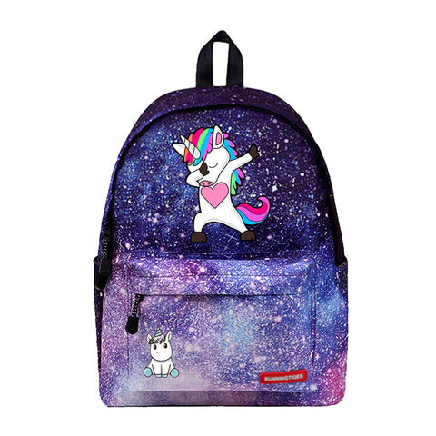 Dabbing through the Galaxy Unicorn Backpack