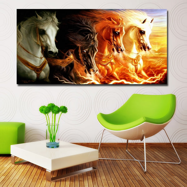 Four Horses Wall Art Decoration