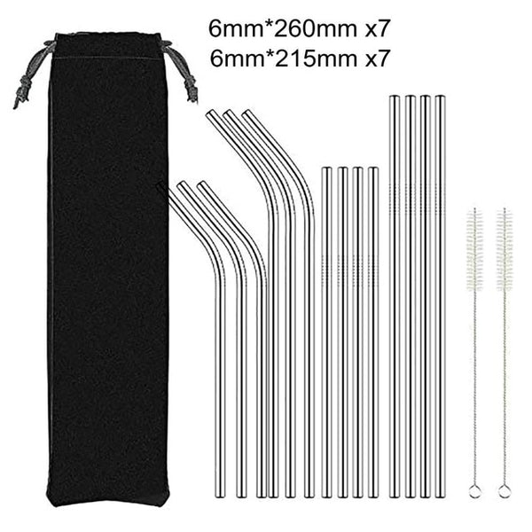 Environmentally Friendly Reusable Metal Drinking Straw made from Stainless Steel
