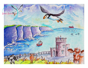 """Cliffs of Moher"" Print"