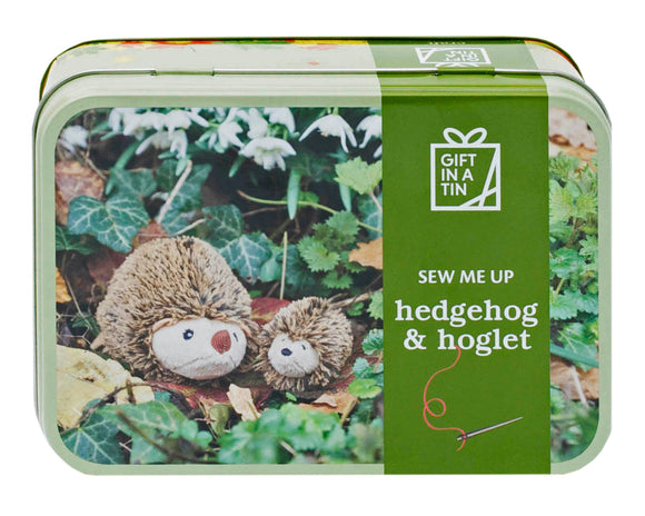 Create Your Own Hedgehog & Hoglet - Gift In A Tin