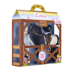 LOTTIE Pony Club Doll and & Pony Set