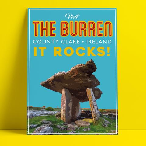 """The Burren - It Rocks"" Print"