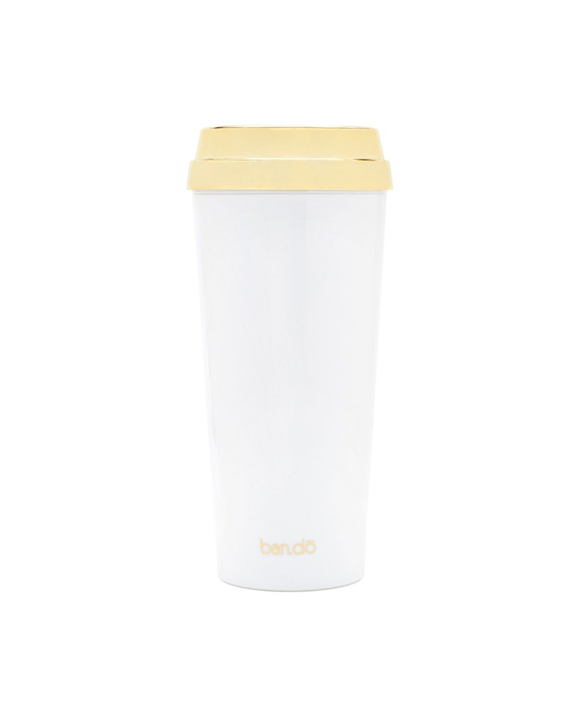 ban.do Thermal Mug But First Coffee Gold