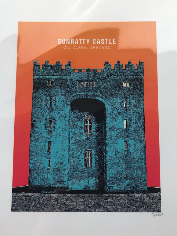 Bunratty Castle PRINT by Jando Design