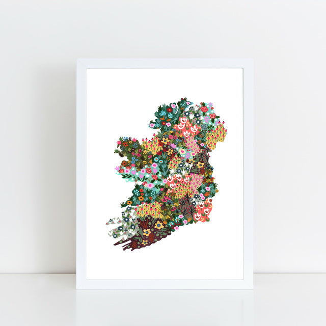 Flowering Counties Print - Hairy Fruit Art