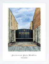 Guinness Gate Print - Hairy Fruit Art