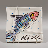 'Mackerel' Square Platter - small - Charlie Mahon Pottery