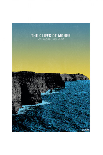 CLIFFS OF MOHER PRINT by Jando