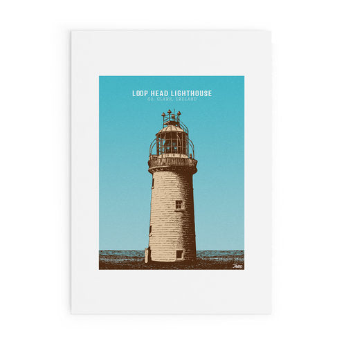 LOOP HEAD LIGHTHOUSE PRINT by Jando Design