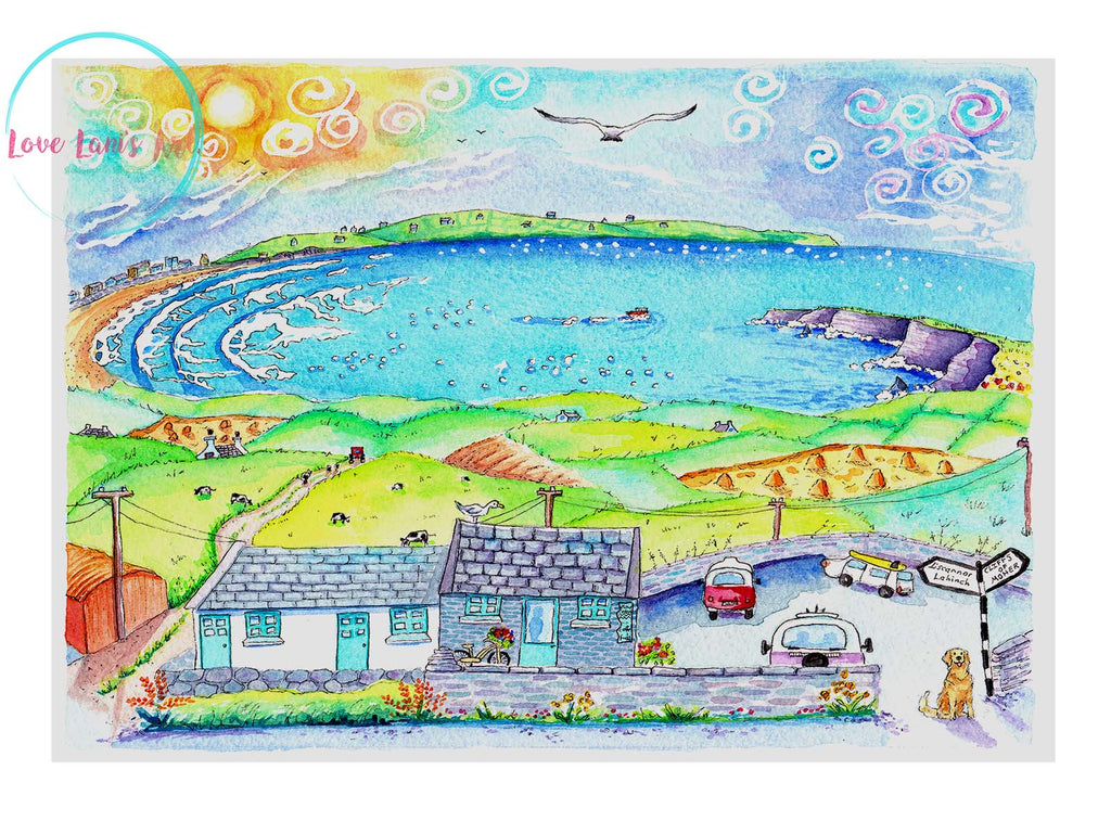 """Moher Cottage, coffee with a view"" Limited edition Print"