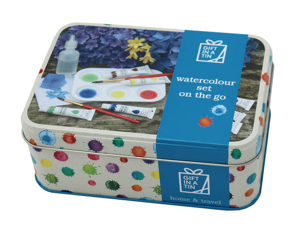 Watercolour Set on the Go - Gift In A Tin