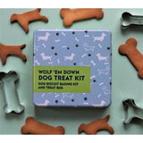 Wolf 'Em Down Dog Treat - Gift In A Tin