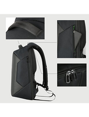Men's Waterproof Backpack Business Satchel Bag Large Capacity For Laptop & Tablets USB Charging Port Included