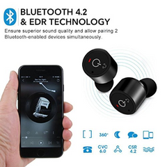 True Wireless Earbuds X1T Mini Headsets Noise-Cancelling Invisible Bluetooth V4.2 Twins Stereo Earphone Headphone with Mic