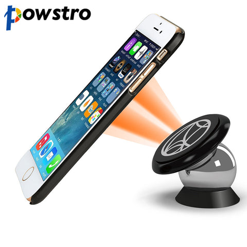 360 Degrees UF-A Car Magnetic Car Dashboard Phone Holder for iPhone Android iPad & GPS