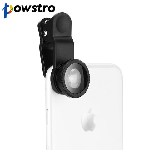Universal 3 in 1 Clip-on Fish Eye Wide Angle & Macro Phone Lens For Smartphones