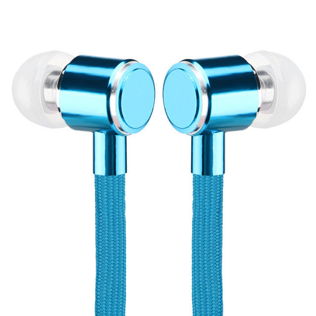 Universal Sports Earbuds Metal Earphones Stereo Bass Headset with Mic-Remote For Smartphones
