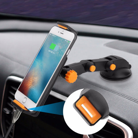 360 Degree Car Dashboard & Windshield Phone Holder - Strong Suction Mount for Smartphones iPhone GPS