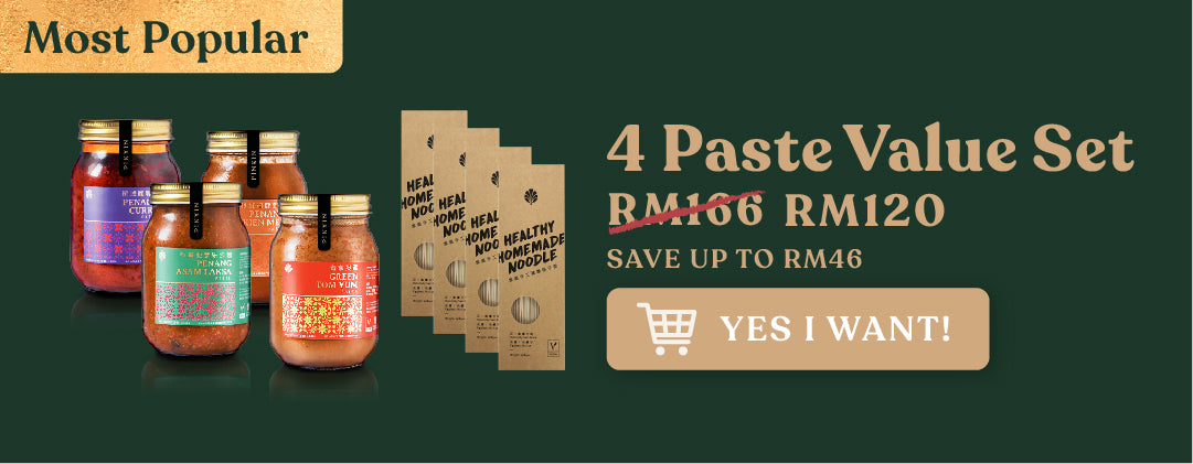 Paste value set pack_pinxin vegetarian healthy street food restaurant vegan cafe Georgetown Penang Malaysia