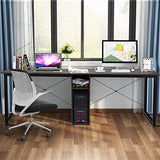 2-Person 79 Inch Double Computer Desk, Home Office Desk with Storage & Cabinet