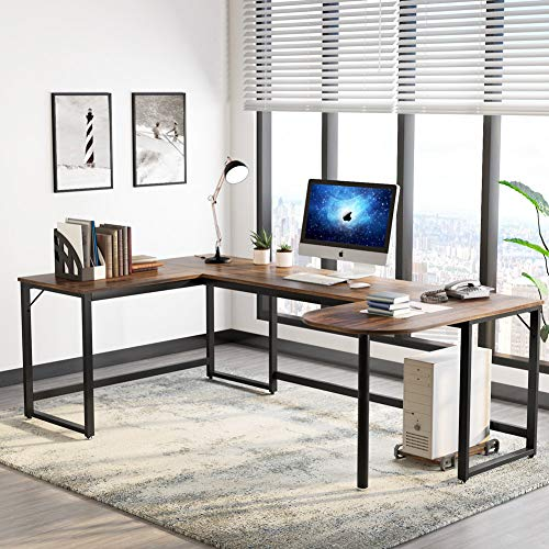 U Shaped Desk Large L-Shaped Desk Corner Computer Office Desk