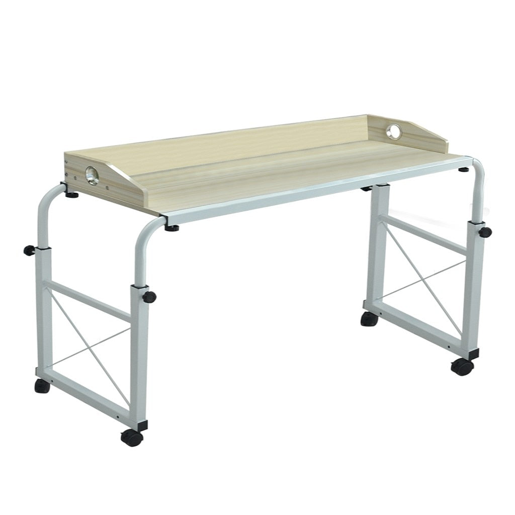 - Adjustable Portable Overbed Table With Wheels FurnitureHouz