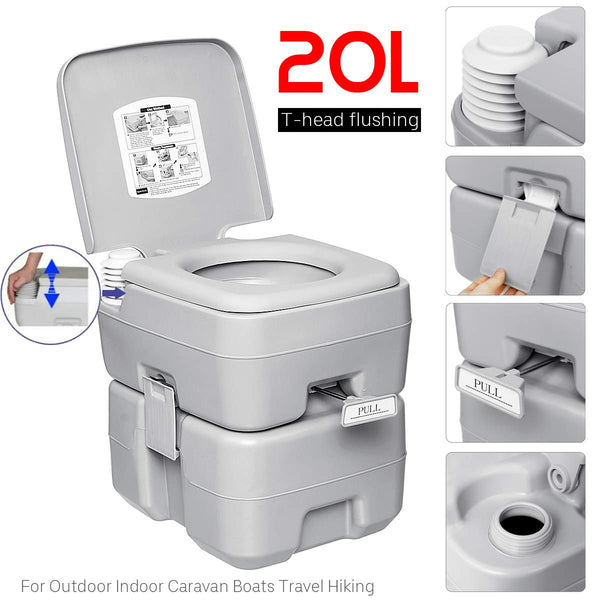 20L Outdoor Portable Camping Toilet Caravan Travel Camp Boating