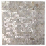 "Peel stick tiles 6 shell mosaic mother of pearl tile for kitchen backsplashes 12"" x"