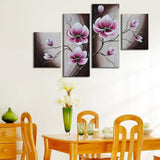 Oil painting pure hand-painted with frame canvas wall art elegant flowers paints ready to hang on