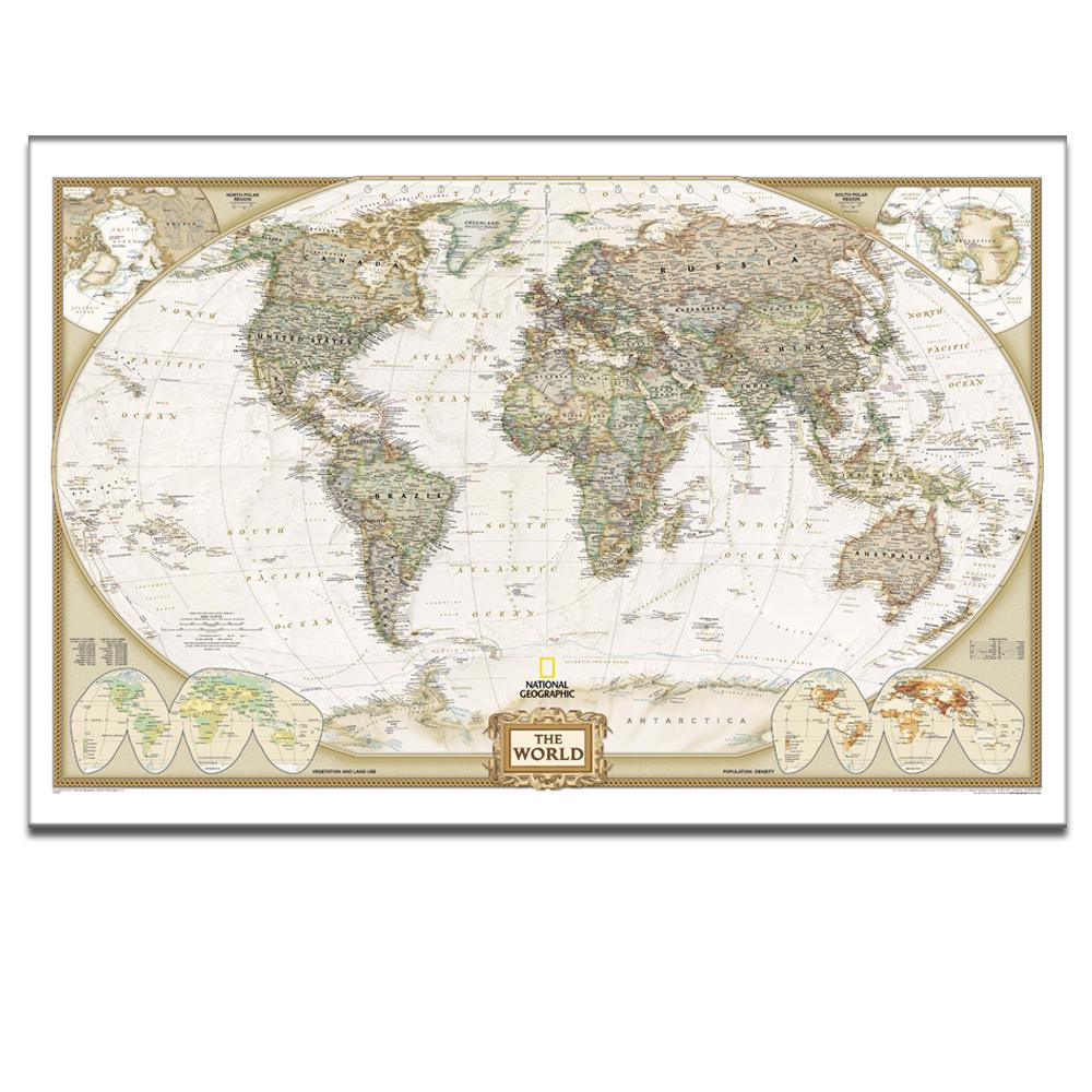 Map canvas scan the globe at home travel around world on art framed stretched ready to hang on 24x36inches