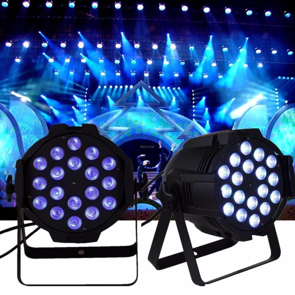 Led par light stage wash 2pcs 18x8w dmx 8ch dj disco party show wedding