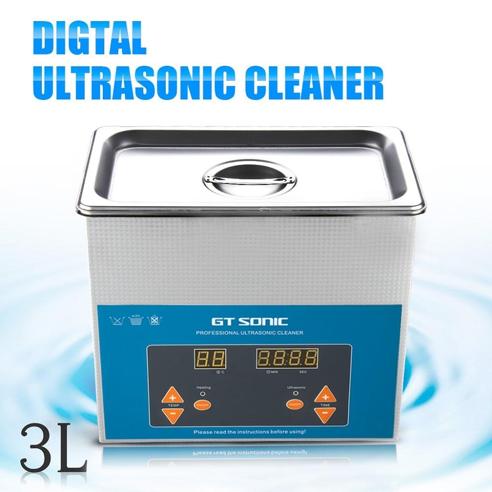 Ultrasonic cleaner 3l digital cleaning machine bath for jewelry watch glasses circuit board
