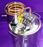 DIY home distiller 3 gal / 10 litres alcohol beer wine whisky moonshine ethanol copper still stainless boiler & thumper keg