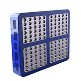 LED grow light 600w 900w 1200w full spectrum double chip red/blue/uv/ir with electroplated reflector for indoor plant