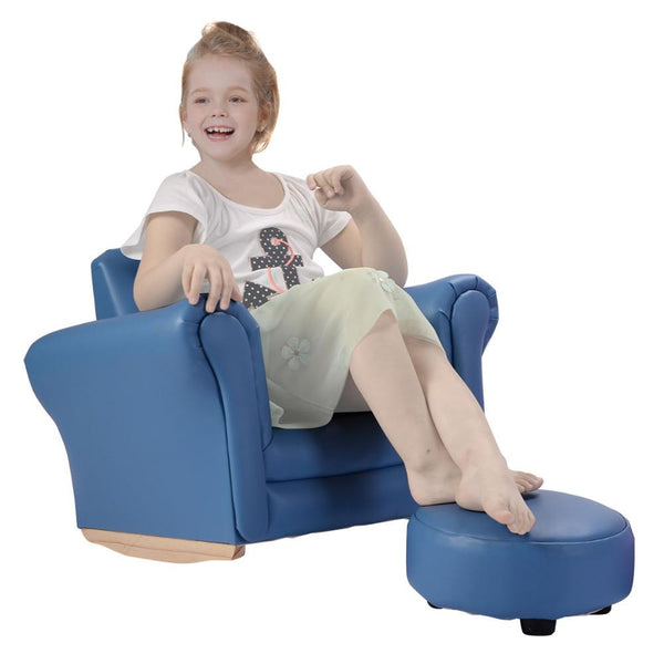 Kids sofa with footstool armrest chair couch childrens furniture living room toddler birthday christmas gift
