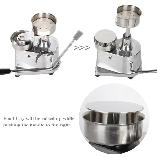 Hamburger press 10cm 13cm diameter manual patty maker stainless steel base with 500pcs oil paper