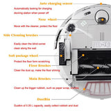 Robot vacuum cleaner long working time charge base sonic wall low noise vacuum cleaner for home