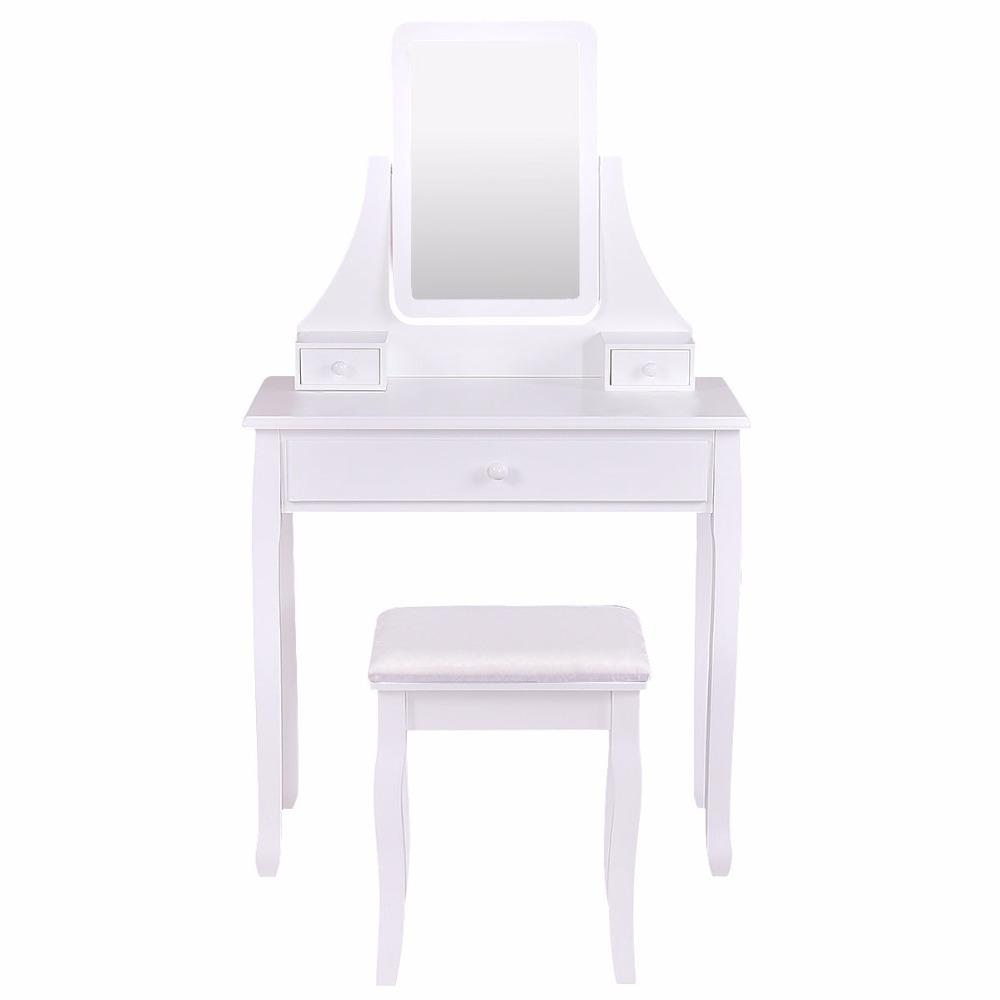 Marvelous Dressing Table Makeup Vanity Desk Stool Set With Square Mirror 3 Drawers Dresser Gmtry Best Dining Table And Chair Ideas Images Gmtryco