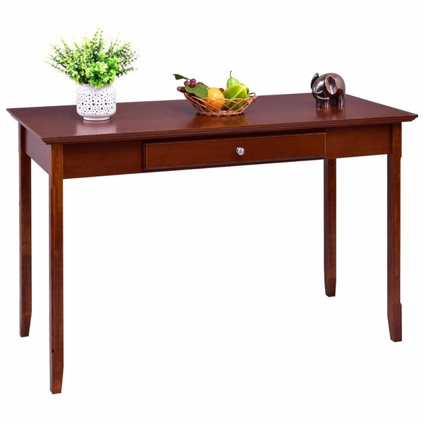 Console table wood student writing desk with one drawer entryway living room furniture office home modern