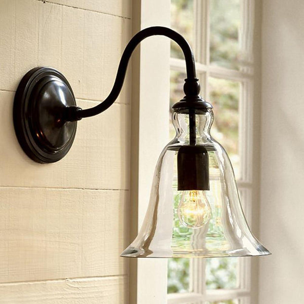 Indoor lights swing arm wall mounted modern bathroom kitchen antique sconce hotel industrial lighting lamp clear glass