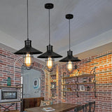 Pendant lights vintage metal lighting fixtures kitchen island bar office shop antique glass shade LED ceiling lamp